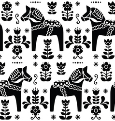 Swedish folk art Dala or Daleclarian horse pattern vector image