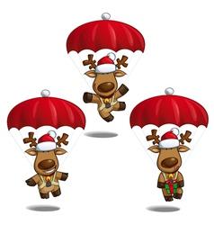 Santas Elks Parachute vector image