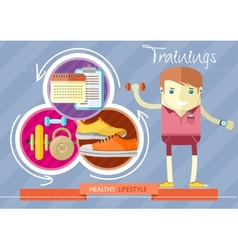 Healthy lifestyle trainings vector
