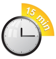 Timer 15 minutes vector