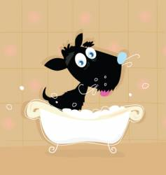 Dog bath vector