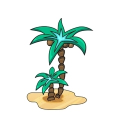 Abstract Palm tree vector image
