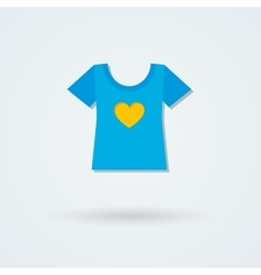 Single laconic icon with the image of t-shirts vector