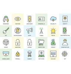 Security and protection icons vector