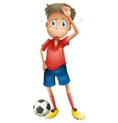 A boy and a football vector