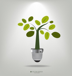 A light bulb with tree vector