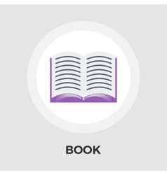 Book Flat Icon vector image vector image