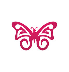 Butterfly logo template vector