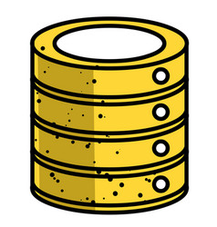 Cartoon image of database icon vector