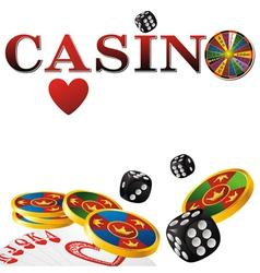 casino white vector image vector image