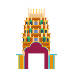 Cathedral churche tibetan temple building landmark vector