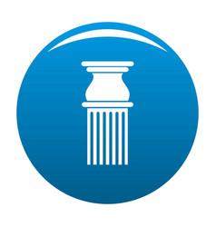 Classical column icon blue vector