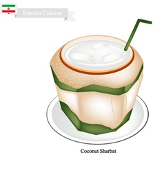 Coconut Sharbat or Iranian Drink From Coconut vector image