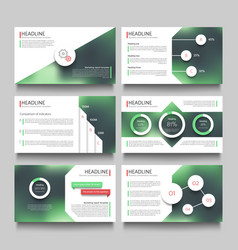 company presentation booklet pages with abstract vector image vector image