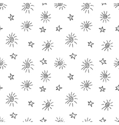 Cute seamless grunge childish pattern vector image