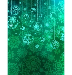 Elegant christmas bauble background vector
