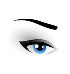 Eye makeup image vector