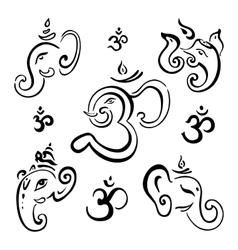Ganesha Hand drawn vector image vector image
