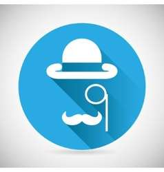 Gentleman accessories symbol bowler hat monocle vector