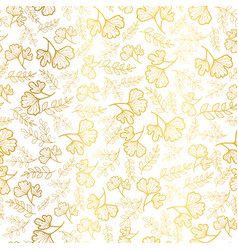 golden leaves texture seamless repeat vector image