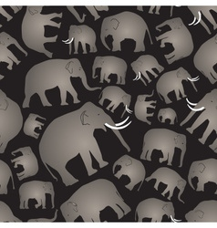 Gray elephants simple seamless black pattern eps10 vector