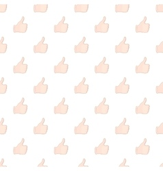 Hand with thumb up pattern cartoon style vector image vector image