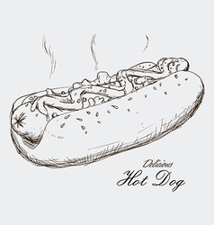 hot dog design vector image