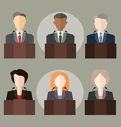 Politicians vector