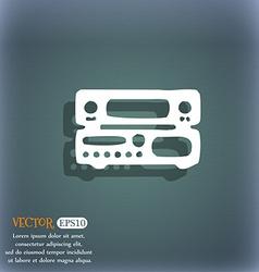 Radio receiver amplifier icon symbol on the vector