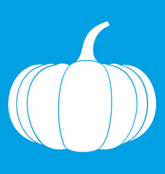 Ripe pumpkin icon white vector