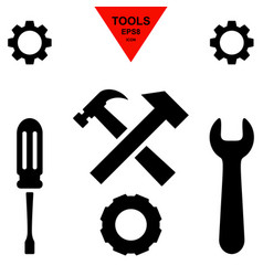 Service tool icons with gear and spanner vector