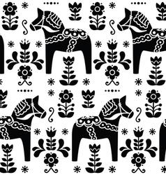 Swedish folk art Dala or Daleclarian horse pattern vector image vector image