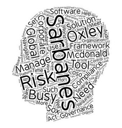 Tools For Sarbanes Oxley Compliance text vector image vector image