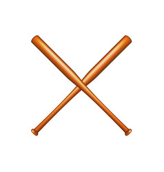 Two crossed baseball bats vector