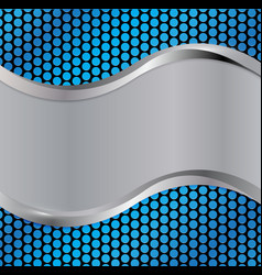 wave silver blue vector image vector image