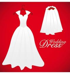 Wedding card wedding gowns vector