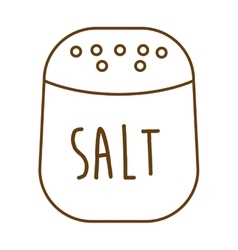 Salt ingredient isolated icon vector