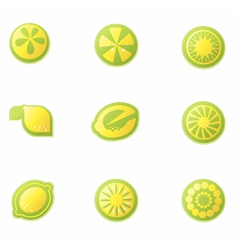 Set of abstract lemon icons vector