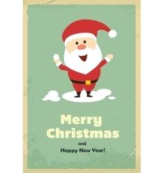 Vintage cute Santa Claus vector image