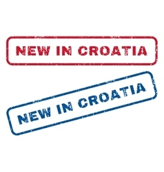 New in croatia rubber stamps vector