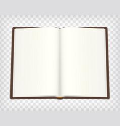 notebook blank mockup vector image