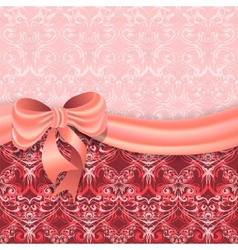 Gentle pink background with Victorian pattern vector image