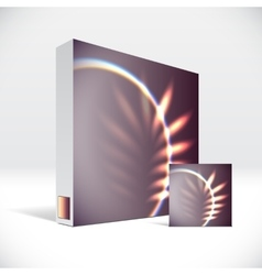 3d identity box with abstract shiny cover vector