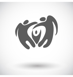 Elegant abstract family flat icon vector image