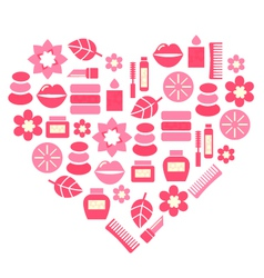 Cosmetic accessories vector