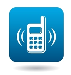 Consultation by phone icon flat style vector