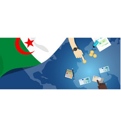 Algeria economy fiscal money trade concept vector