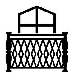 Balcony icon simple style vector