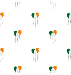 Balloons in irish flag colors pattern seamless vector