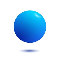 Blue Ball isolated vector image